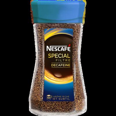 Café soluble spécial filtre décaféïné NESCAFE, bocal de 200g