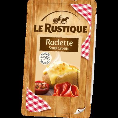 Raclette sans croûte au lait de vache pasteurisé 26% de MG, LE RUSTIQUE, 400g