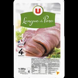 Langue de porc U, 4 tranches, 200g