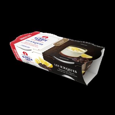 Dessert au citron sur lit de chocolat noir ALSACE LAIT, 2x125g