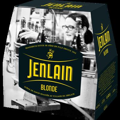 Bière blonde JENLAIN, 6,8° pack de 6x25cl
