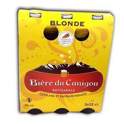 BIERE DU CANIGOU  BLOND 3 X 33 CL