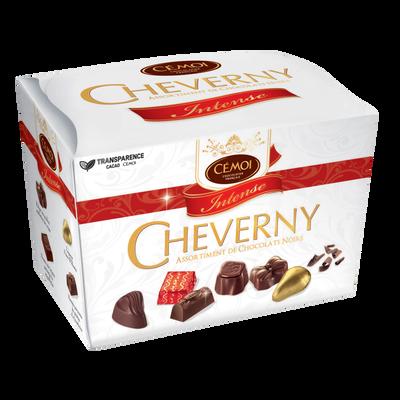 "Assortiment de chocolats noirs ""Cheverny Intense"" CEMOI, ballotin de 210g"