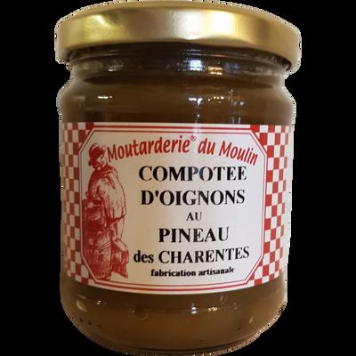 Compotée d'oignons au pineau des Charentes MOUTARDERIE DU MOULIN, 200g