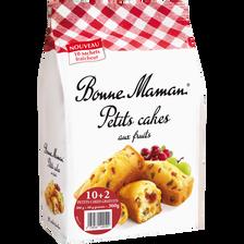 Bonne Maman Petits Cakes Aux Fruits , Sachet De 10+2 Offerts, 360g