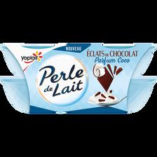 Nestlé Spécialité Laitière À La Noix De Coco, Aromatisée Aux Copeaux De Chocolat 4x100g