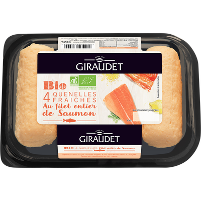 Quenelles de saumon bio GIRAUDET, 4x80g