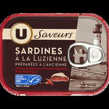 Sardines à la Luzienne jamb.Bayon.piment espelette, U SAVEURS, 115g