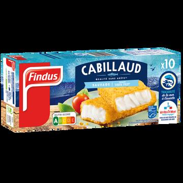 Findus Panés De Cabillaud Findus, 10 Unités, 510g
