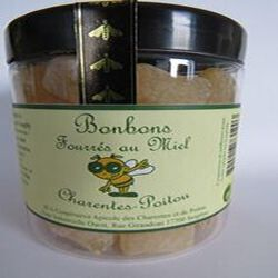 Bonbons fourrés au miel, Charentes-Poitou, 200gr, pot, Coopérative des Charentes et du Poitou