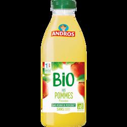 Jus pomme bio ANDROS, bouteille en plastique de 75cl