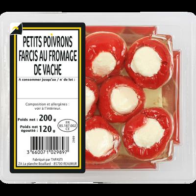 Petits poivrons farcis au fromage, 200g