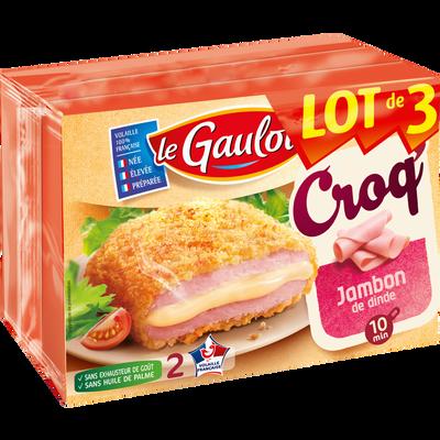 Croqs jambon/fromage, LE GAULOIS, 2 pièces, lot de 3 étuis, 600g