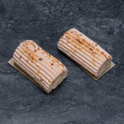 Bûchette Crème au Beurre Praliné décongelé, 4 pièces, 300g