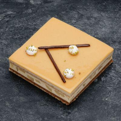 Croustillant poire caramel décongelé, 1 pièce, 100g