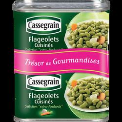 Flageolets verts extra-fins Trésor gourmandise CASSEGRAIN, 2 boîtes, 530g