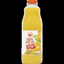 Pur jus d'orange avec pulpe U, bouteille de 1,5l