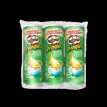 Pringles Chips Tuiles Pringles Crème Et Oignon, Lot De 3x175g