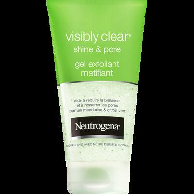 Gel exfoliant matifiant Shine & Pore Visibly Clear NEUTROGENA, tube de150ml