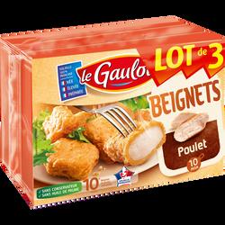 Beignet de poulet, LE GAULOIS, lot de 3 étuis, 600g