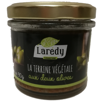 Terrine végétale aux deux olives LAREDY, 90g