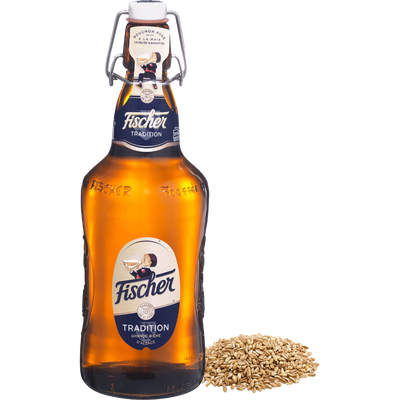 Bière Tradition FISCHER, 6°, bouteille verre perdu de 65cl