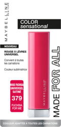Rouge à lèvres color sensational made for all 379 fushia for me MAYBELLINE, nu