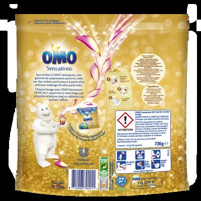 Lessive essence de fleurs d'Orient 2 en 1 OMO, x28 capsules