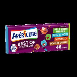 Fromage fondu apéritif APERICUBE Best Of 48 cubes, 250g