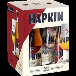 Bière belge Hapkin 8,5° 4x33cl +1 verre