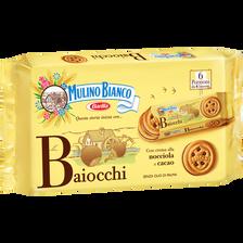 Biscuits au chocolat Baiocchi Nocciola Snack MULINO BIANCO, 6 sachets,336g