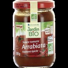 Sauce arrabiata JARDIN BIO, pot de 200g
