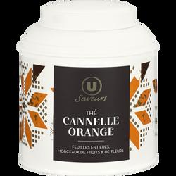 Thé Noël orange cannelle U SAVEURS, boîte en métal de 100g