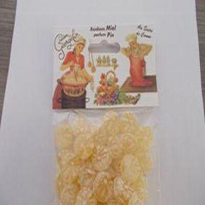 Bonbon miel parfum pin au sucre de canne ,sachet de 150 gr , Lucien Georgelin