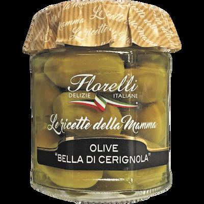 "Olives ""Bella di Cerignola"" entières FLORELLI, 200g"