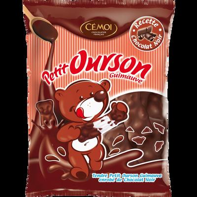 Petits oursons guimauve enrobés de chocolat noir CEMOI, sachet de 180g