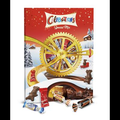 Calendrier de l'Avent roue chocolats assortis CELEBRATIONS, 239g