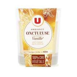 Bougie parfumée douceur de vanille U, pot de 150g
