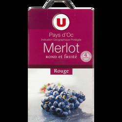 Vin rouge IGP Pays d'Oc Merlot U, 5l