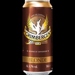 Bière blonde GRIMBERGEN, 6.7°, boîte de 50cl