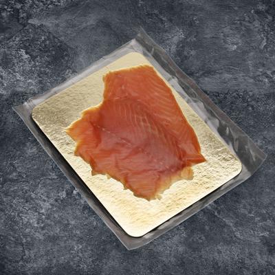 Saumon fumé, salmo salar, élevé en Norvège