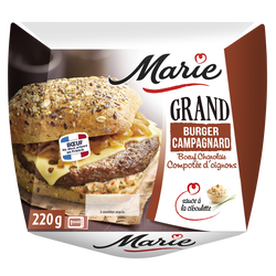 "Grand burger campagnard au boeuf charolais et compotée d""oignons MARIE, 220g"