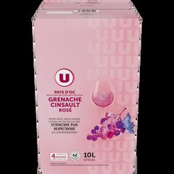 Vin rosé IGP Pays d'OC grenache cinsault U, fontaine à vin, 10 litres