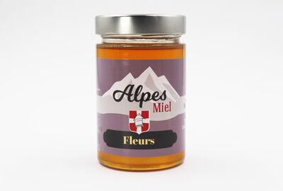 Miel de fleurs MIEL ALPES, pot de 375g