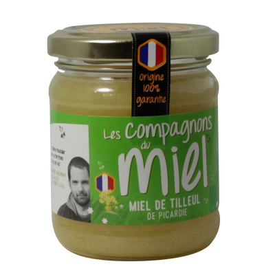 Miel de Tilleul de Picardie COMPAGNONS DU MIEL, 250g