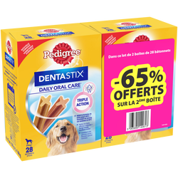 PEDIGREE Dentastix multipack grands chiens 28 sticks 2x1,08Kg