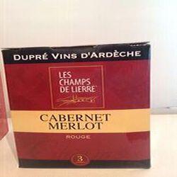 Vin Cabernet Merlot IGP Ardèche LES CHAMPS DE LIERRE Dupré 3L