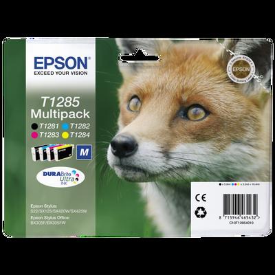 Pack 4 cartouches d'encre EPSON T1285 Renard