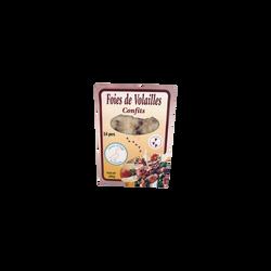 Foie de volaille confit, SAVEUR d'AUGE, France, Barquette, 300g