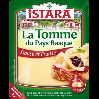 Tomme du Pays Basque lait pasteurisé mélange vache-brebis ISTARA, 31,8% de MG, 180G